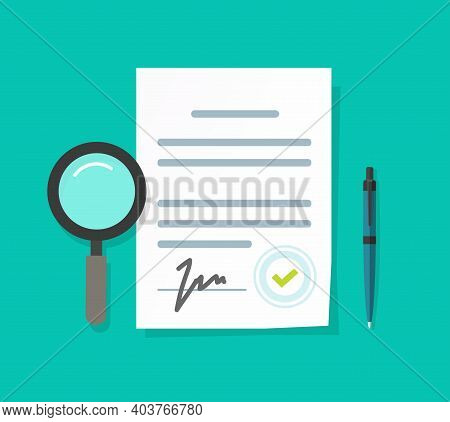 Expertise Or Inspection Or Business Legal Documents Vector Illustration Flat Cartoon, Audit Analyzin