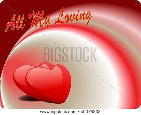 Valentine Love Card - All My Loving