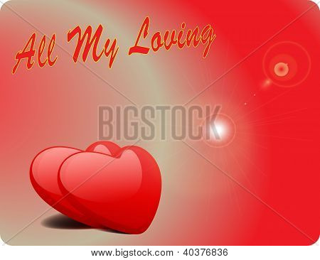 Valentine Love Card - All My Loving II