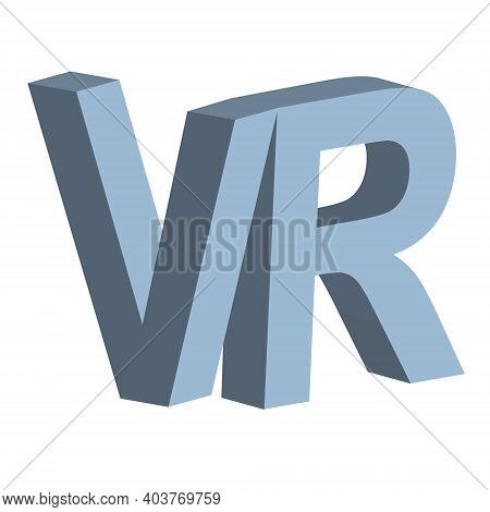 Vr Virtual Reality Letter V And R Vector 3d Vr Icon Virtual Reality Sign