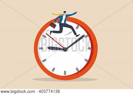 Work Efficiency, Time Management To Help Finish Multitasking Work Or Smart Productivity Concept, Con