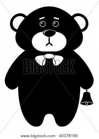 Teddy bear a tilde, silhouette