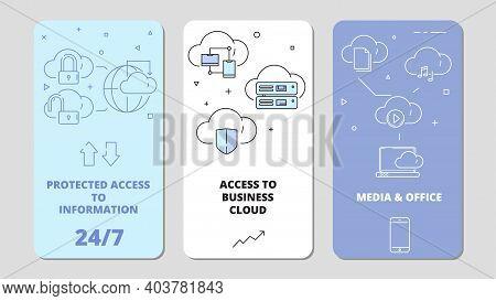 Cloud Technology App. Online Software Computer Internet Services Safety Connection, Data Service Vec