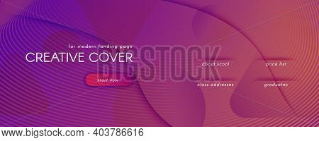 Abstract Fluid Background. 3d Futuristic Concept. Flow Shapes Brochure. Purple Abstract Fluid Backgr