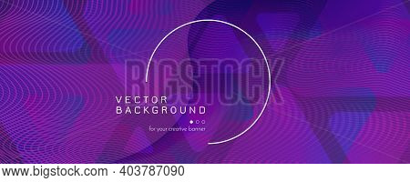 Fluid Background. Abstract Flow Shapes Wallpaper. Curve Dynamic Pattern. Vivid Business Website. Vio