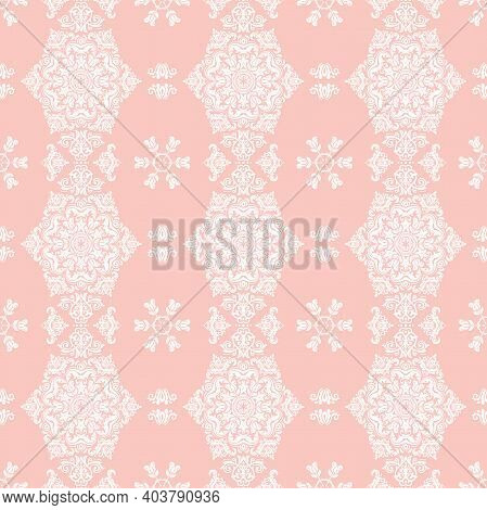 Classic Seamless White Pattern. Damask Orient Ornament. Classic Vintage Background. Orient Ornament