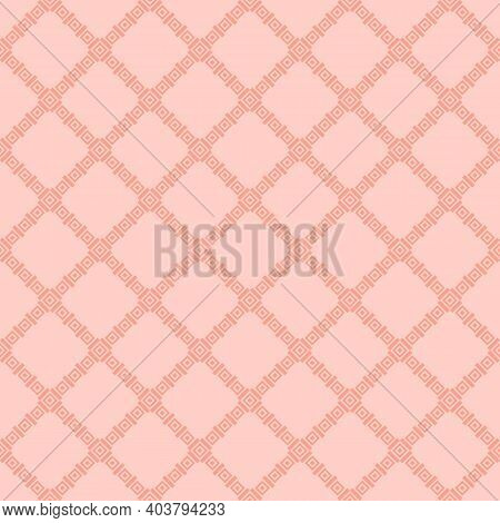 Geometric Square Texture. Abstract Vector Seamless Pattern With Small Rhombuses, Diamonds, Squares,