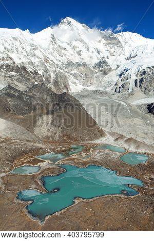 Beautiful Panoramic View Of Mount Cho Oyu And Cho Oyu Base Camp, Gyazumba Glacier - Sagarmatha Natio