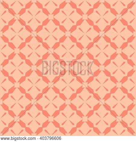 Simple Vector Geometric Seamless Pattern. Abstract Texture With Diagonal Cross Lines, Diamond Grid,