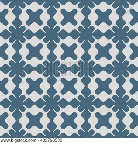 Vector Seamless Pattern, Floral Ornamental Background, Repeat Geometric Tiles, Curved Shapes. Abstra