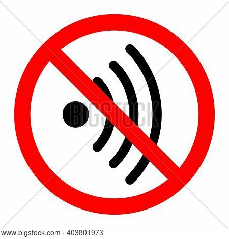 No Wifi Signal. Wi-fi Is Prohibited. Stop Or Ban Red Round Sign With Wi-fi Icon. Vector Illustration