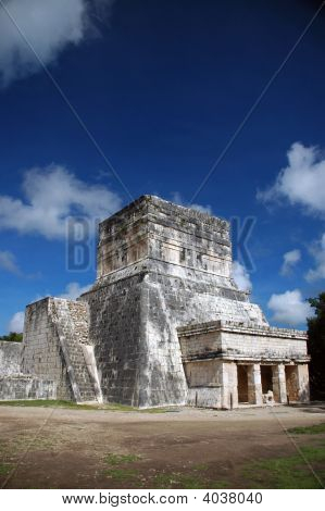 Spectator Building At Mayan Ball Court