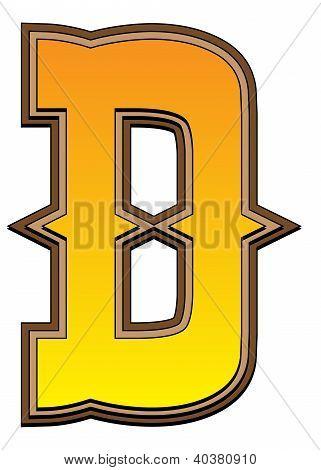 Western Alphabet Letter - D