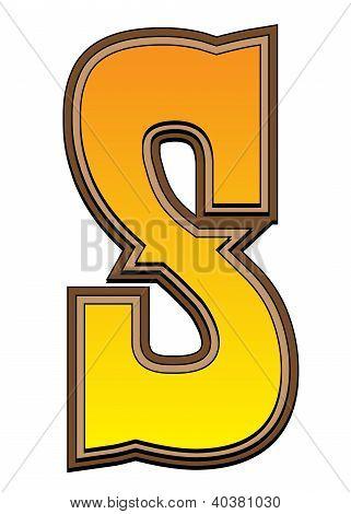 Western Alphabet Letter - S
