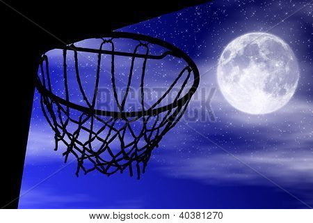 Basket Silhouette Moonlight