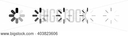 Loading. Vector Load Icons, Isolated. Set Of Loading Icons. Vector Illustration