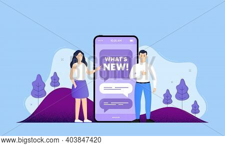 Whats New Symbol. Phone Online Chatting Banner. Special Offer Sign. New Arrivals Symbol. Whats New C