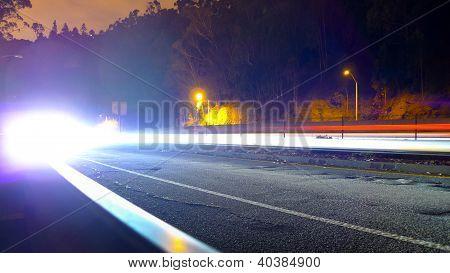 Car Lights Approaching