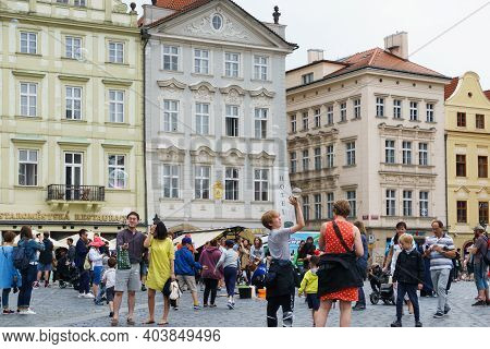 People In Old Town Square