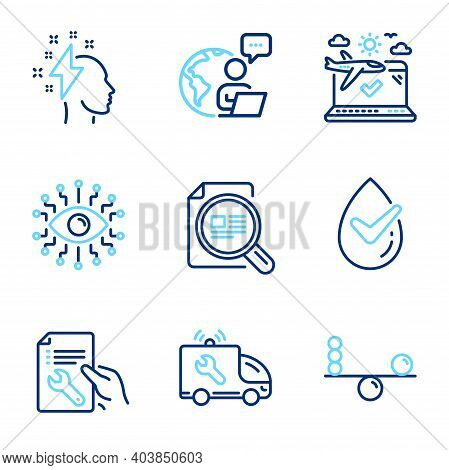 Business Icons Set. Included Icon As Car Service, Brainstorming, Check Article Signs. Artificial Int