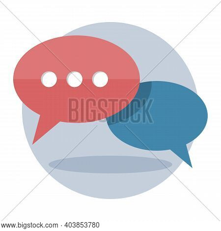Speech Buble, Chat, Mobile Messenger Or Online Support Icon. Vector Illustration Isolated On White B