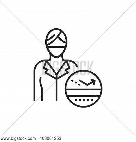 Dermatologist Color Line Icon. Subject Matter Expert.