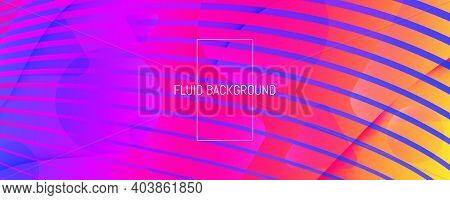 Rainbow Gradient Wave Striped Background. Abstract Fututristic Pattern.