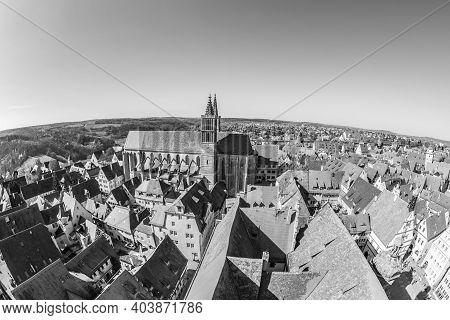 Skyline Of Rothenburg Ob Der Tauber, Bavaria, Germany