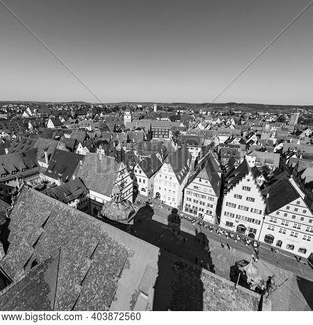 Rothenburg Ob Der Tauber In Bavaria, Germany