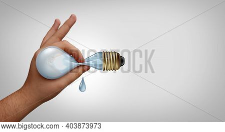 Creative Juices And Creativity Concept As A Fresh Idea Symbol Or Business Ideas Icon As A Hand Squee
