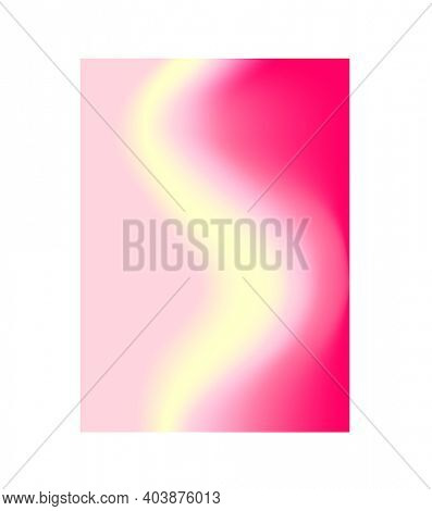 Vertical beauty rosy, pink and yellow blurred template for cosmetician and spa salon, visiting card, web banner, leaflet, brochure, flyer, presentation, cosmetic packaging
