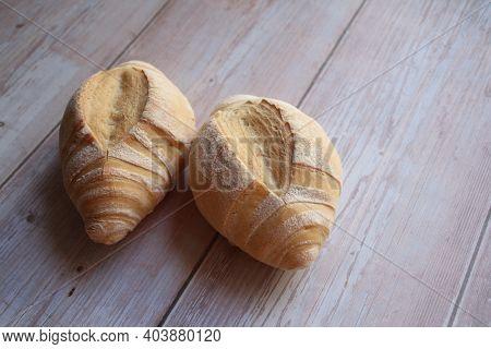 Two Fresh Rolls, Fresh, Crispy Bread, Nicely Baked Wheat Rolls, Crispy Crust