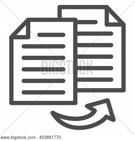 Double Entry Bookkeeping Line Icon, Black Bookkeeping Concept, Two Similar Bookkeeper Reports Sign O