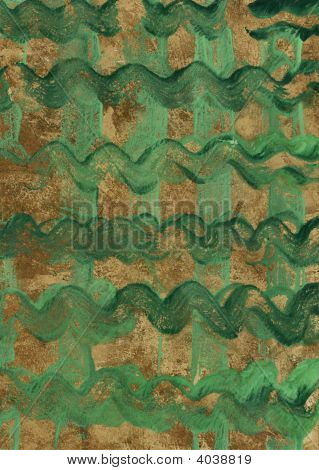 Abstract Think Green Painting