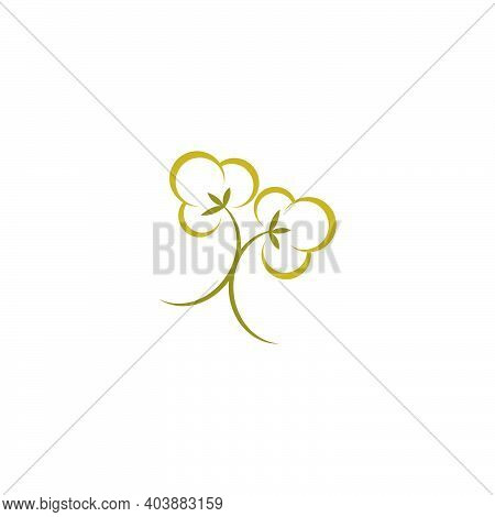 Cotton Logo Icon Illustration Vector Design
