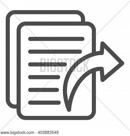 Accounting Document And Delegate Arrow Line Icon, Black Bookkeeping Concept, Outsourcing In Business