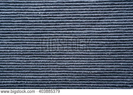 The Texture Of A Blue Table Cloth