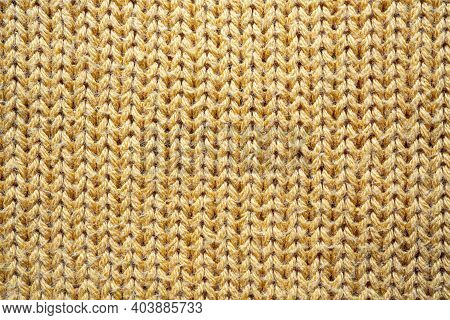 The Texture Of A Yellow Cotton Jersey