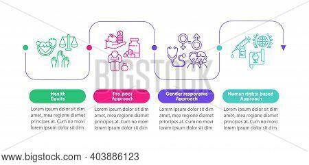 Health Programs Principles Vector Infographic Template. Health Equity Presentation Design Elements.