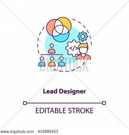 Lead Designer Concept Icon. Game Designers Types. Creating Modern Project With Powerful Team. Employ