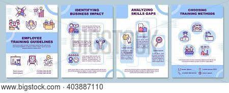 Employee Training Guidelines Brochure Template. Identifying Business. Flyer, Booklet, Leaflet Print,