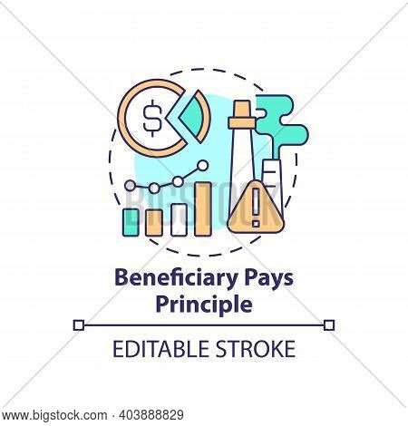 Beneficiary Pays Principle. Climate Justice Idea Thin Line Illustration. Vector Isolated Outline Rgb