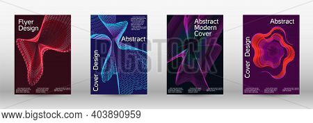 Modern Design Template. A Set Of Modern Abstract Covers. Creative Backgrounds From Abstract Lines To