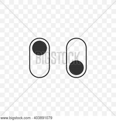 Dark Mode Icon. App Interface Design Concept. Dark Mode Switch Icon. Vector Illustration