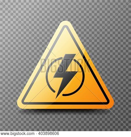 Power Outage. Symbol Without Electricity. Triangular Icon Of Electricity. Vector Illustration Isolat