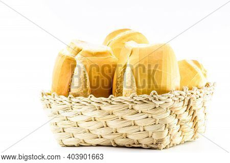 A Basket Full Of Traditional Brazilian Bread, Called
