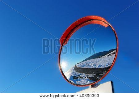 road cross mirror