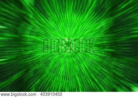Green Sparkle Fantasy As Abstract Illuminated Pattern Or Background.