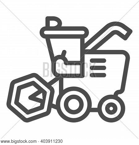 Combine Line Icon, Farm Garden Concept, Agricultural Vehicle Sign On White Background, Combine Harve