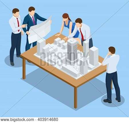Isometric Construction Project Management, Architectural Project Planning, Architect Design Accessor